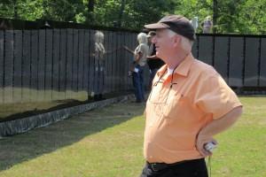 Charles Wiggins at Moving Vietnam Wall Memorial