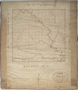 Old Map of Henry County, GA Circa 1821